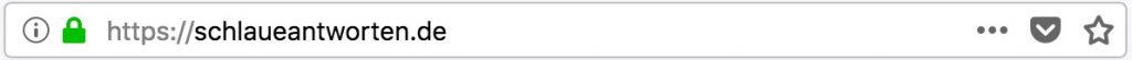 HTTPS-Hervorhebung im Browser