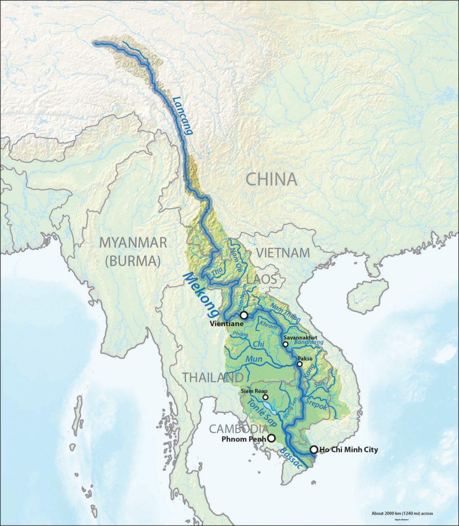 Karte Mekong-Fluss