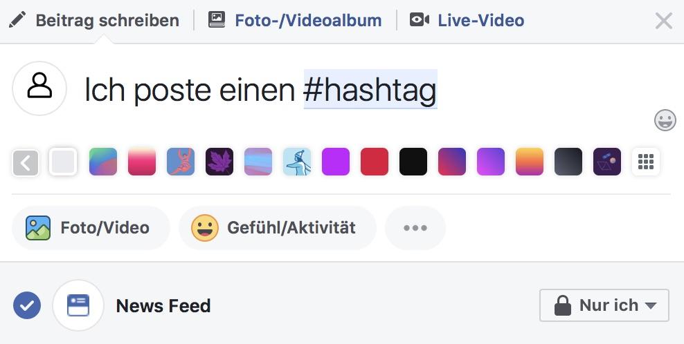Hashtag auf Facebook